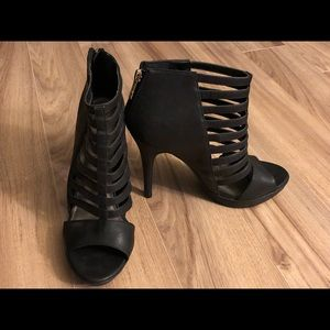 Sexy strapped ankle bootie
